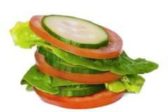 Stapel des Gemüses Stockbild