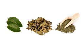 Stapel des grünen Tees lizenzfreie stockbilder
