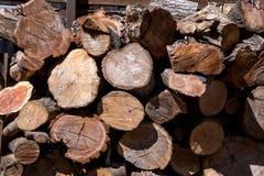 Stapel des hölzernen Logs Lizenzfreies Stockbild