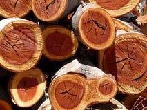 Stapel des Holzes Stockfotos