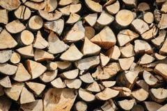 Stapel des Holzes Lizenzfreies Stockbild