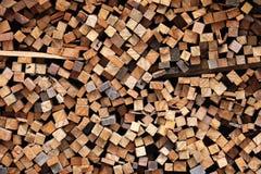 Stapel des Holzes, Stapel Holz Lizenzfreies Stockfoto