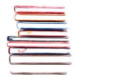 Stapel des Pinselstrichs der Tagebücher 20/5000with stockbild