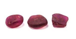 Stapel des rohen natürlichen Rubins stockfotografie