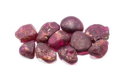 Stapel des rohen natürlichen Rubins lizenzfreie stockfotografie