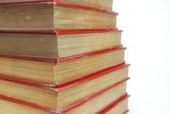 Stapel des roten Buches Lizenzfreies Stockfoto