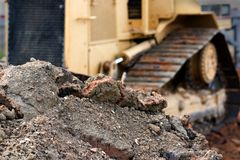 Stapel des Schmutzes und der Felsen Stockfoto