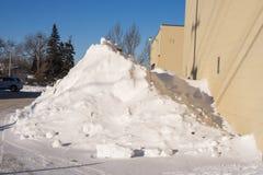 Stapel des Schnees Stockbild