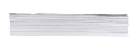Stapel des Weißbuchblattes der Größe a4 Lizenzfreie Stockfotos