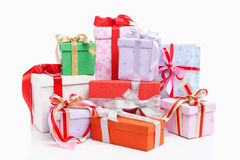 Stapel des Weihnachtsgeschenks Stockfotografie