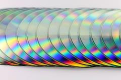Stapel Digitalschallplatten Stockbild