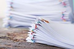 Stapel documenten royalty-vrije stock foto's