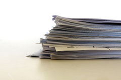 Stapel documenten stock foto