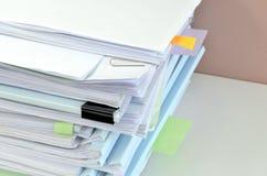 Stapel documenten Stock Afbeelding