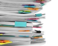 Stapel Dokumente stockfotos