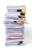 Stapel Dokumente Lizenzfreie Stockbilder