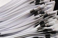 Stapel Dokumente Lizenzfreies Stockfoto