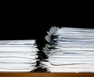 Stapel Dokumente oder Dateien, Überlastung der Schreibarbeit lizenzfreie stockfotos