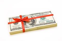 Stapel Dollar lizenzfreies stockfoto