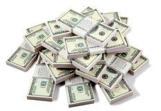 Stapel dollars Stock Foto