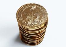 Stapel dollars Royalty-vrije Stock Afbeeldingen
