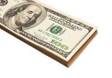 Stapel dollars Royalty-vrije Stock Foto