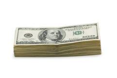 Stapel dollars   Royalty-vrije Stock Fotografie