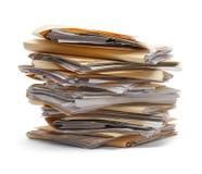 Stapel Dossiers Stock Foto's