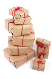 Stapel dozen van de handcraftgift Royalty-vrije Stock Afbeelding