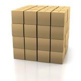 Stapel Dozen van het Karton Royalty-vrije Stock Foto