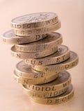 Stapel ein-Pfund-Münzen Lizenzfreie Stockfotos