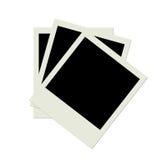 Stapel einiger unbelegter polaroidfotoschüsse Stockfoto