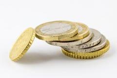 Stapel Euro Muntstukken Stock Afbeeldingen