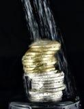Stapel euro muntstukken Royalty-vrije Stock Afbeelding