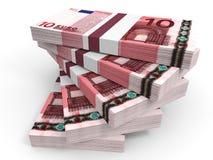 Stapel EURObanknoten Lizenzfreie Stockbilder