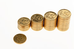 Stapel Euromünzen Lizenzfreie Stockbilder