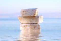 Stapel evenwichtige stenen Stock Foto