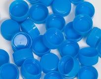 stapel för blåa lock Fotografering för Bildbyråer
