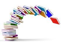 Stapel fallende Bücher Lizenzfreie Stockfotos