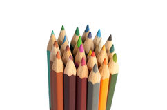 Stapel farbige Bleistifte Lizenzfreie Stockfotografie