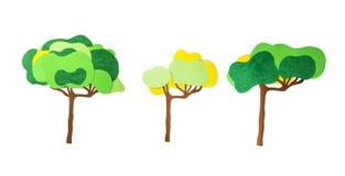 Stapel Farbpapier stellen sich ist Bäume vor Lizenzfreies Stockfoto