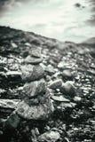 Stapel Felsen auf norwegischem Berg, Norwegen-Natur Stockfoto