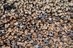 Stapel Feuer-Holz Stockbild