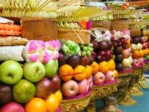 Stapel Früchte, wie, anbietend Gott [Gebogan] Lizenzfreies Stockfoto