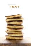 Stapel frisch zubereitete Pfannkuchen Stockbild