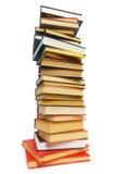 Stapel geïsoleerdee boeken Stock Fotografie