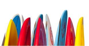 Stapel geïsoleerdeh surfplanken Royalty-vrije Stock Afbeeldingen
