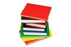 Stapel geïsoleerder boeken royalty-vrije stock foto's