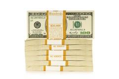 Stapel geïsoleerdes dollars stock foto