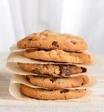 Stapel geassorteerde koekjes Stock Foto's